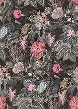Aapjes tussen tropische bloemen papier murales Behang Expresse structures