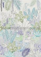 Hide and seek blue carta da parati Behang Expresse Sofie en Junar INK7633