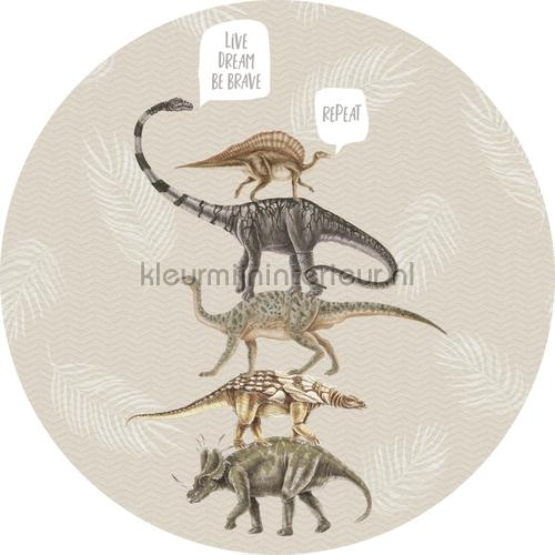 Live dream be brave sand cirkel 75cm stickers mureaux INK322 Bébé - Enfant Behang Expresse
