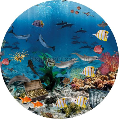 Aquarium cirkel 100cm adesivi murali INK337 Bambini Behang Expresse