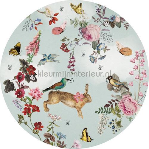 Vintage fairytale cirkel 100cm stickers mureaux INK339 Bébé - Enfant Behang Expresse