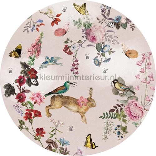 Vintage fairytale cirkel 100cm adesivi murali INK340 Bambini Behang Expresse