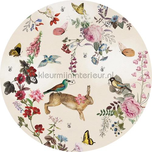 Vintage fairytale cirkel 100cm adesivi murali INK341 Bambini Behang Expresse