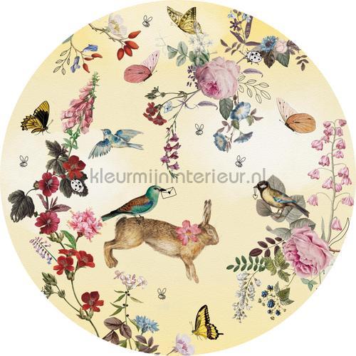 Vintage fairytale cirkel 100cm adesivi murali INK342 Bambini Behang Expresse