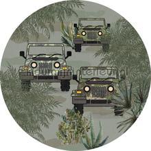 Bush drive green cirkel 75cm wallstickers Behang Expresse alle billeder