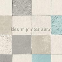 Rustieke tegels tapeten Kleurmijninterieur uni farben