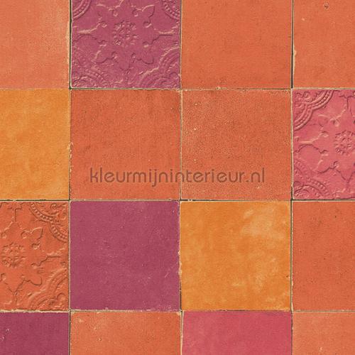 Rustieke tegels carta da parati kmi104 piastrelle Kleurmijninterieur