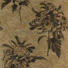 Evelyn Antique Gold Olivine behang Zoffany Grafisch Abstract