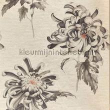 Evelyn Koi Vine Black wallcovering Zoffany The Muse 312734