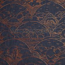 Indigo Macaque Copper behang Arte Zoffany