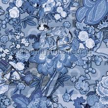 Rendezvous Tokyo Blue Ming Blue behang Arte Zoffany