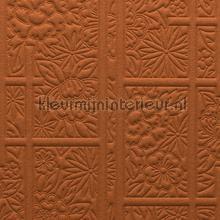 Shoji Blossom Copper behang Arte uni kleuren