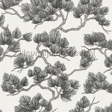 Pine tree whiteblack papier peint Dutch Wallcoverings spécial