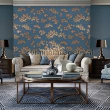 Pine tree blue tapeten Dutch Wallcoverings uni farben