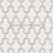 Geometric silver tapet Dutch Wallcoverings Vintage Gamle