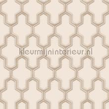 Geometric cream tapet Dutch Wallcoverings Vintage Gamle
