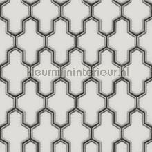 Geometric whiteblack tapet Dutch Wallcoverings Vintage Gamle