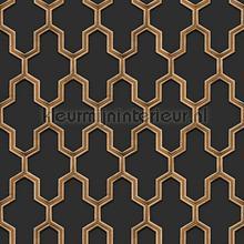 Geometric black tapet Dutch Wallcoverings Vintage Gamle