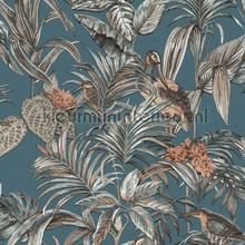 Botanisch borduurwerk en relieflook behang Dutch Wallcoverings klassiek