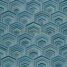 Hexagon diepte behang Dutch Wallcoverings klassiek