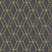 Geruit borduurwerk en relieflook behang Dutch Wallcoverings klassiek