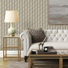 Strak borduurwerk met 3d effect behang Dutch Wallcoverings klassiek