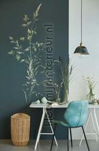 Aqua Twigs Denim fotomurali Eijffinger PiP studio wallpaper