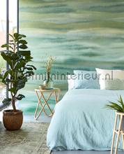 Waterwalll Green photomural Eijffinger all images