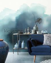 Aquarelle Blue photomural Eijffinger all images