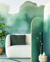 Aquarelle Green photomural Eijffinger all images