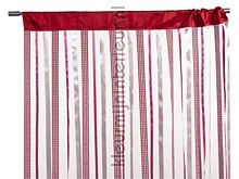 Lintgordijn rood Katja 01 fly curtains Blyco wire curtains