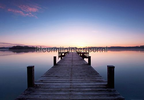 Pier at Sunrise fotobehang 00953 aanbieding fotobehang Ideal Decor