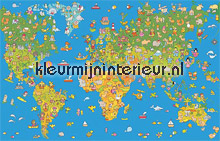 Worldmap papier murales AS Creation XXL Wallpaper 0351-7