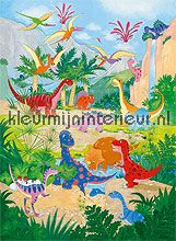 Dino world fotobehang Ideal Decor babykamer