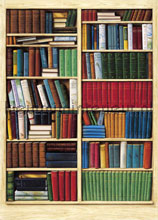 bibliotheque fotobehang Ideal Decor Ideal-Decor Poster 401