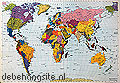 world map fotobehang Komar Scenics 4-050
