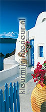 Santorini terrace photomural Ideal Decor Ideal-Decor Poster 00597