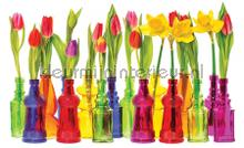 Vases with tulips photomural Kleurmijninterieur all images