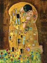 Kiss Klimt fotobehang Kleurmijninterieur Modern---Abstract
