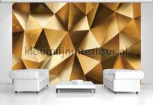 Golden photomural Kleurmijninterieur Mural room set photo's