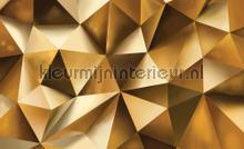 Golden fotobehang Kleurmijninterieur Grafisch---Abstract