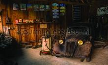 Garage fotobehang Kleurmijninterieur Kunst---Ambiance
