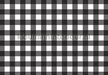 Black and white squares fotobehang Kleurmijninterieur Grafisch Abstract