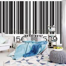 Barcode fotobehang Kleurmijninterieur Modern Abstract