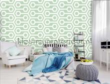 Abstract play mint photomural Kleurmijninterieur Mural room set photo's