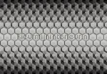 3 D hexagons fotobehang Kleurmijninterieur Grafisch---Abstract