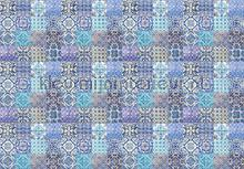 Maroccan tiles blue fotobehang Kleurmijninterieur Modern Abstract