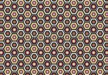 Hexagon fotobehang Kleurmijninterieur Grafisch---Abstract