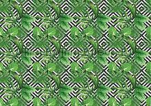 Green leafs fotobehang Kleurmijninterieur Abstract and Art 11229-VE-M