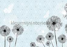 Butterflies and dandelions fotobehang Kleurmijninterieur Kunst---Ambiance